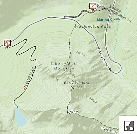 Blue Lake Topo Map